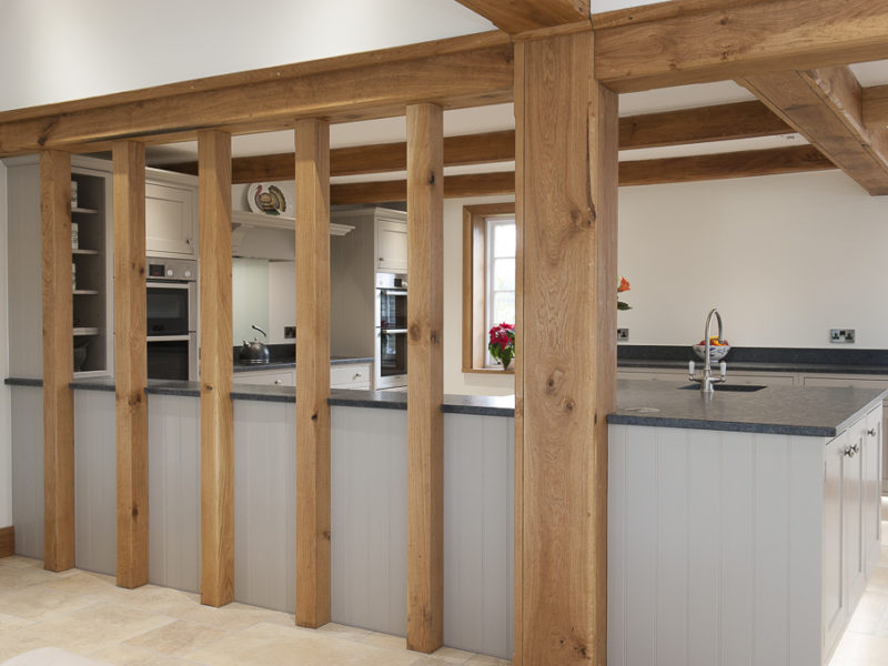 feature beams in classic kitchen